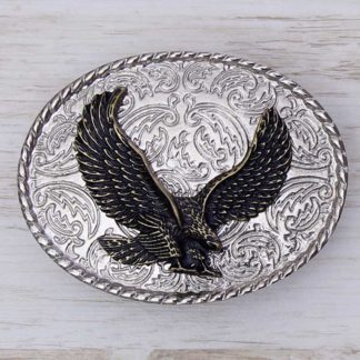 BUCKLE WILD AFRICA No.60 EAGLE ON PAISLEY