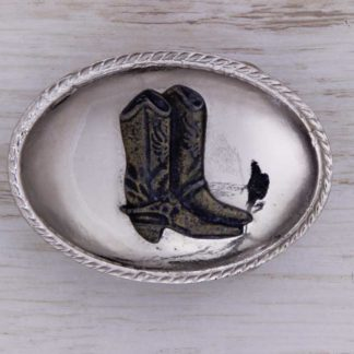 BUCKLE WESTERN AH12C BOOT ON SCALLOPED OVAL
