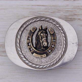 BUCKLE HORSE No.104 SCALLOPED EDGE GOOD LUCK