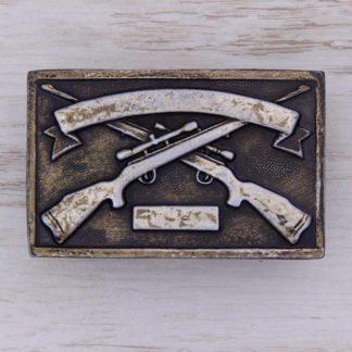 BUCKLE WESTERN No.126 TROPHY HUNTING RIFLES