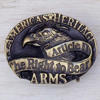 BUCKLE WESTERN No.36 THE RIGHT TO BEAR ARMS