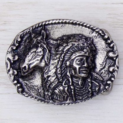 BUCKLE HORSE No.43 INDIAN CHIEF & HORSE