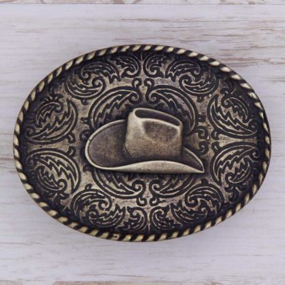 BUCKLE WESTERN No.56 STETSON ON PAISLEY