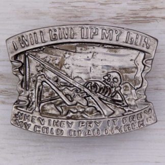 BUCKLE WESTERN No.59 I WILL GIVE UP MY GUN