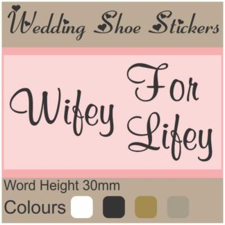 0d7a930eb78 WSS15 Wifey for Lifey. R26.00 Select options · Wedding Shoe Stickers